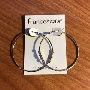 Gold Francesca's Hoop Earrings!